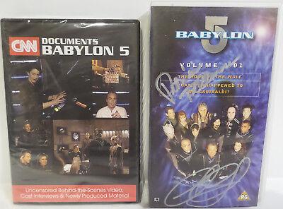 BABYLON 5 :  CNN DOCUMENTS BABYLON 5 DVD MADE IN 2016, SIGNED VIDEO, 2 KEY RINGS