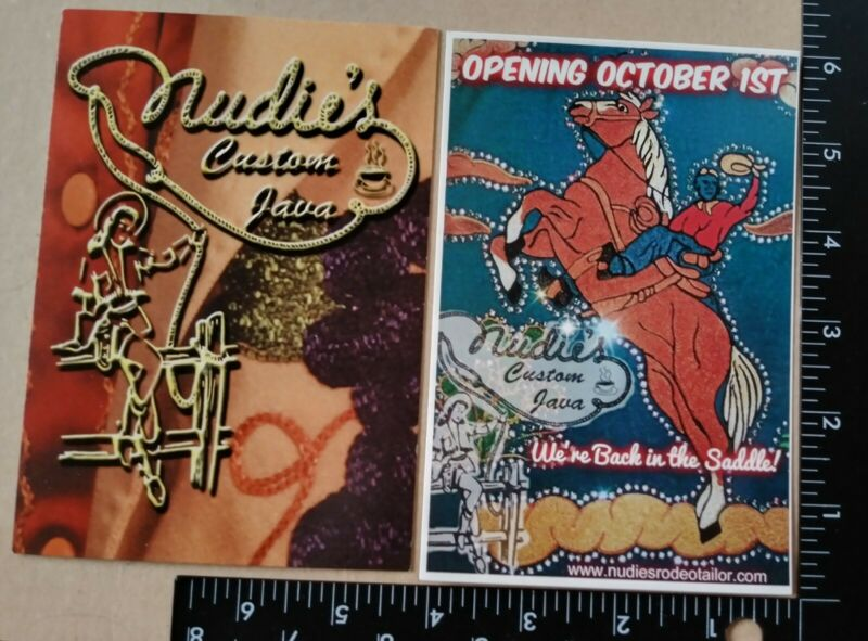Lot of 2 Postcards from Nudie