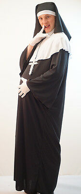 Monty Python-Stag Night-Fancy Dress MALE PREGNANT NUN with SILVER CROSS & GLOVES