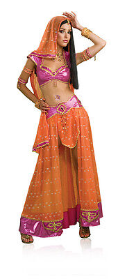 Bollywood Dancer Belly Arab Harem Girl Fancy Dress Halloween Sexy Adult Costume