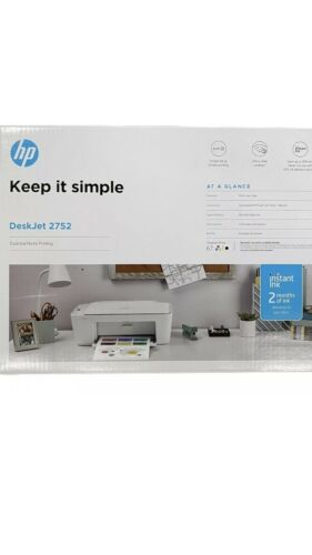 New HP Desk Jet 2752 Print Scan Copy WiFi Printer Home offic