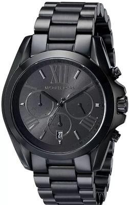Michael Kors Men's Bradshaw Chronograph Black Stainless Steel Watch MK5550