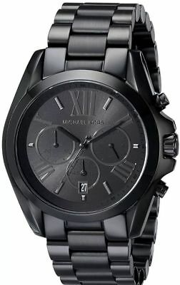 Michael Kors Mens Bradshaw Chronograph Black Ion Steel MK5550 100m Wrist Watch