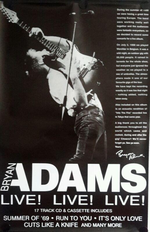 Bryan Adams Original Promo Poster  40 x 60 inch. Free shipping