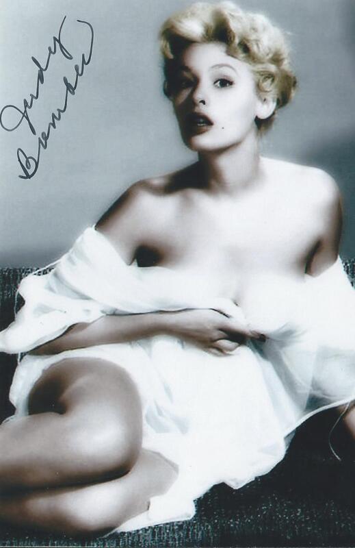 Judy Bamber auto-signed Pin Up Model Actress Bucket of Blood RARE COA LOOK!!