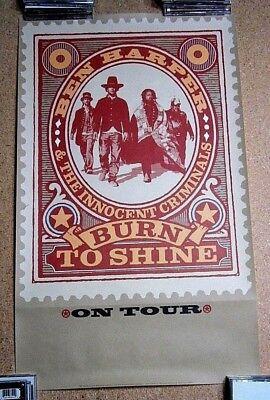 Ben Harper Promo Poster ON TOUR for Burn To Shine