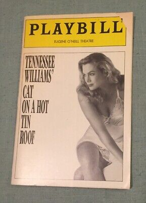 Cat on a Hot Tin Roof Playbill 1990 Eugene O'Neill Theatre Kathleen (Kathleen Turner Cat On A Hot Tin Roof)