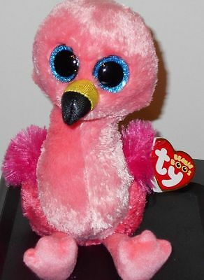 "Ty Beanie Boos ~ GILDA the 6"" Flamingo ~ Stuffed Plush Toy ~ 2017 NEW ~ IN HAND"