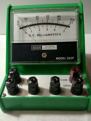 Hickok 560f Ac Milliamperes Stored At College Clean Nice Condition No Bottom