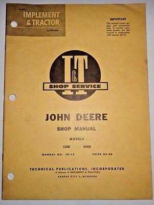 John Deere 435d 440id Tractor It Shop Service Repair Workshop Manual Jd