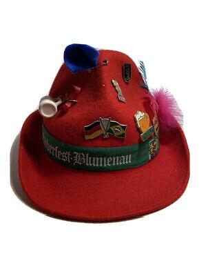 VTG PRADA Hat Pins Oktoberfest Red FEDORA Cervin