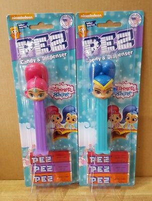Shimmer and Shine Pez ~ Mint on Card ~ New 2018