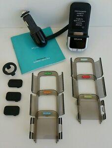 Belkin F8Z176 FM transmitter Tunebase iPhone & iPod w/ adapters nano touch video