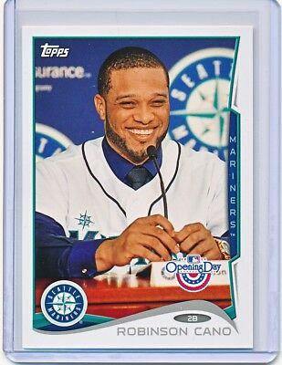 ROBINSON CANO 2014 TOPPS OPENING DAY PHOTO VARIATION SSP SP #195 (MARINERS)