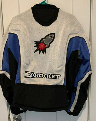 Joe Rocket UFO 2.0 Mesh Motorcycle Jacket L With Full Armor Blue/Gray/Black Ufo 2.0 Jacket