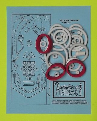Used, 1982 Bally Mr. & Mrs Pacman Pac-Man pinball rubber ring kit for sale  Eustis