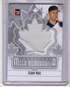 TERRY-PUHL-10-11-ITG-Canadiana-Mega-Memorabilia-Jersey-SL-SP-M-14-Houston-Astros