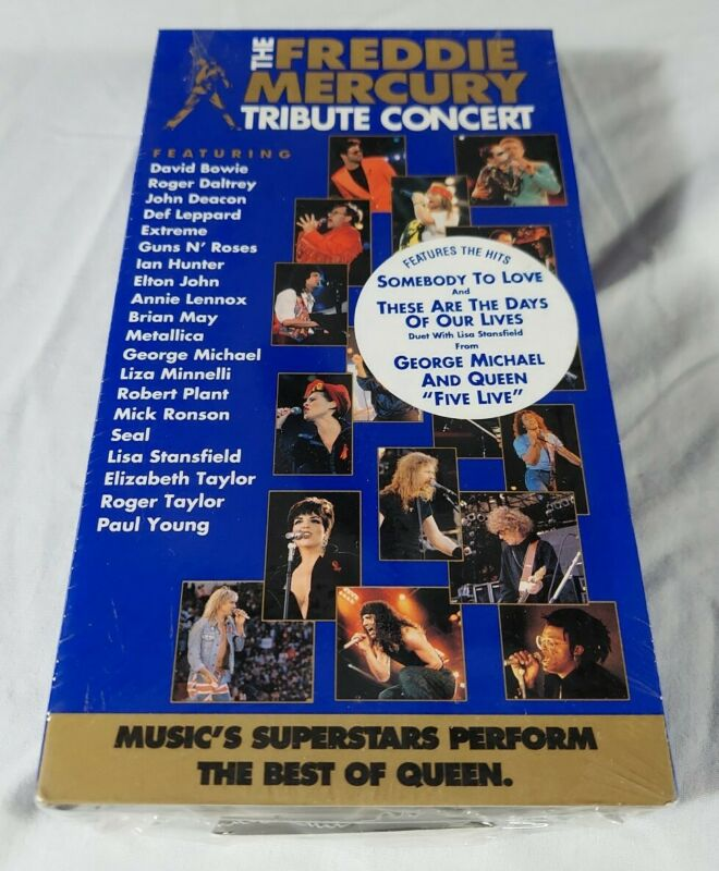 The Freddie Mercury Tribute Concert (VHS, 1993) New Sealed - Free Shipping