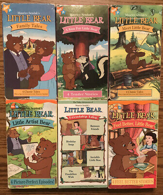 Huge Lot Of 6 Little Bear VHS Tapes Nick Jr. A