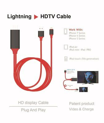 LIGHTNING To HDMI DIGITAL AV TV Cable Adapter For IPHONE IPAD 6 7 8 X 11 PRO MAX