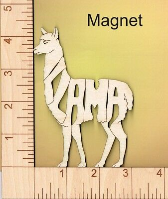 Llama laser cut and engraved wood Magnet