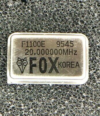 F1100e-20.000mhz Fox Oscillator Xo 20mhz 100ppm 5v 4-pin Metal Dip 5 Pieces