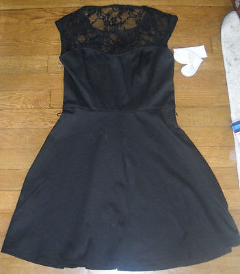 NWT Macys Lots of Love by Speechless Little Black Lace Dress sixe xs extra (Macys Little Black Dress)