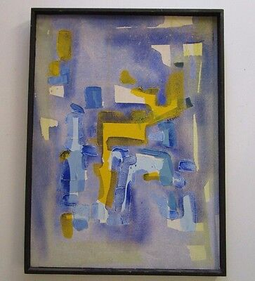 VINTAGE ABSTRACT EXPRESSIONISM PAINTING NON OBJECTIVE ART POP EXPRESSIONIST MCM ()