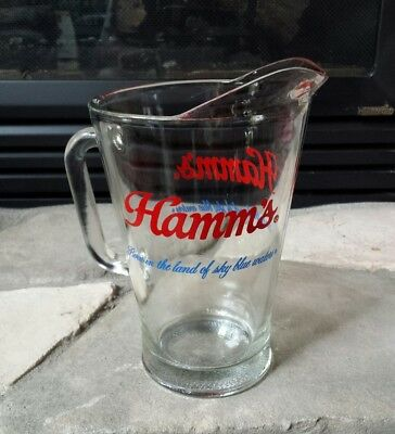 60 Oz Beer Pitcher (Vintage HAMM'S Born In The Land Of Sky Blue Waters 60oz Beer Pitcher Near Mint )