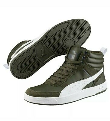 Puma Rebound Street v2 mid Shoes Trainers 363715 mid Cut size 13 Mid Cut Trainer