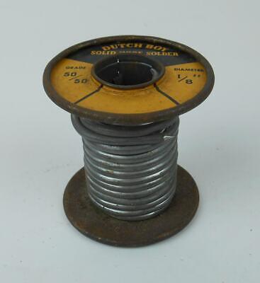 Vintage 6.5 Oz. Roll Dutch Boy 5050 Solid Wire Solder 18 Diameter