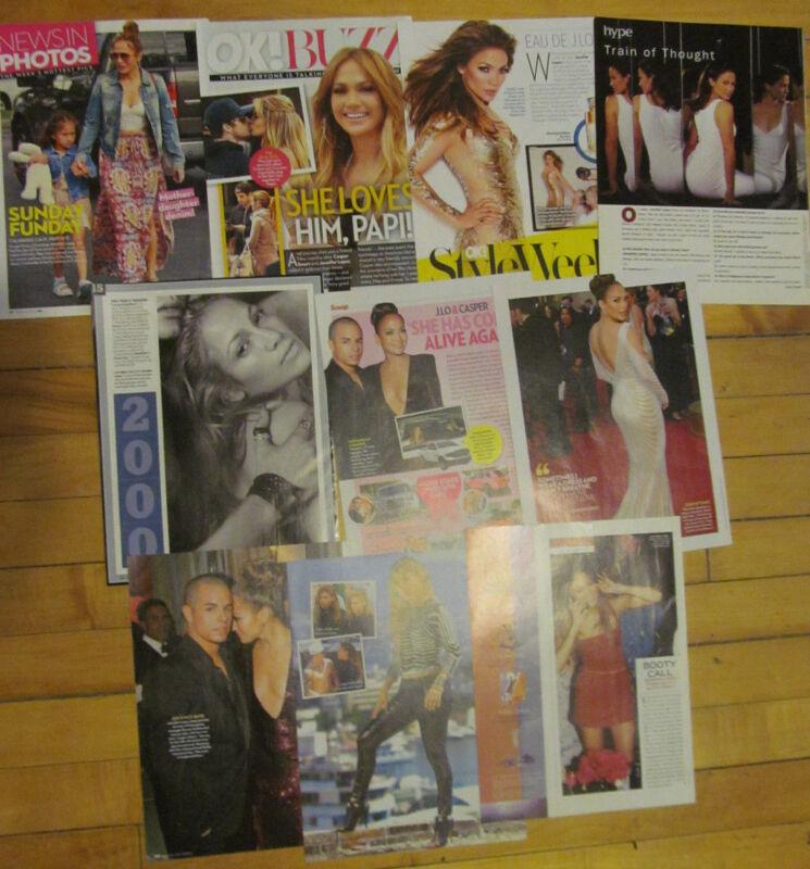 Jennifer Lopez, Lot of Ten Full Page Clippings