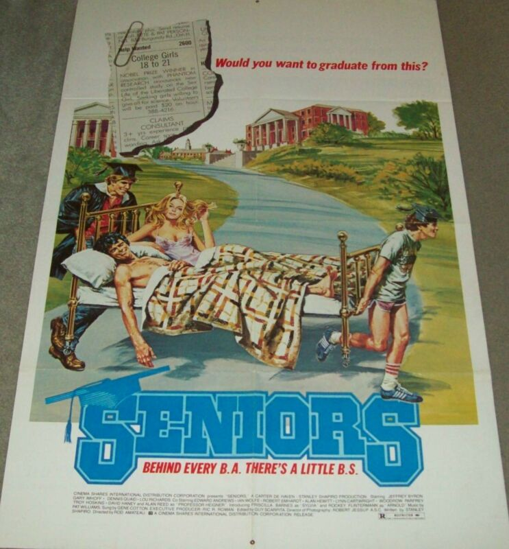 "ORIGINAL LATE 20TH. CENTURY ADVERTISNG FILM POSTER, ""SENIORS"""