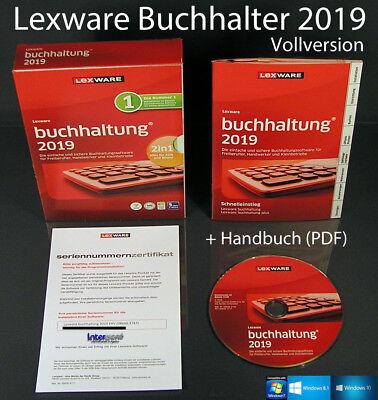 Lexware Buchhalter 2019 Vollversion Box + CD, Handbuch (PDF), Updates  OVP NEU