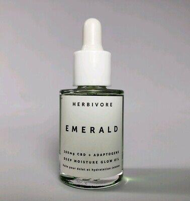 Mini Herbivore Emerald Adaptogens Deep Moisture Glow Oil Face Serum Treatment