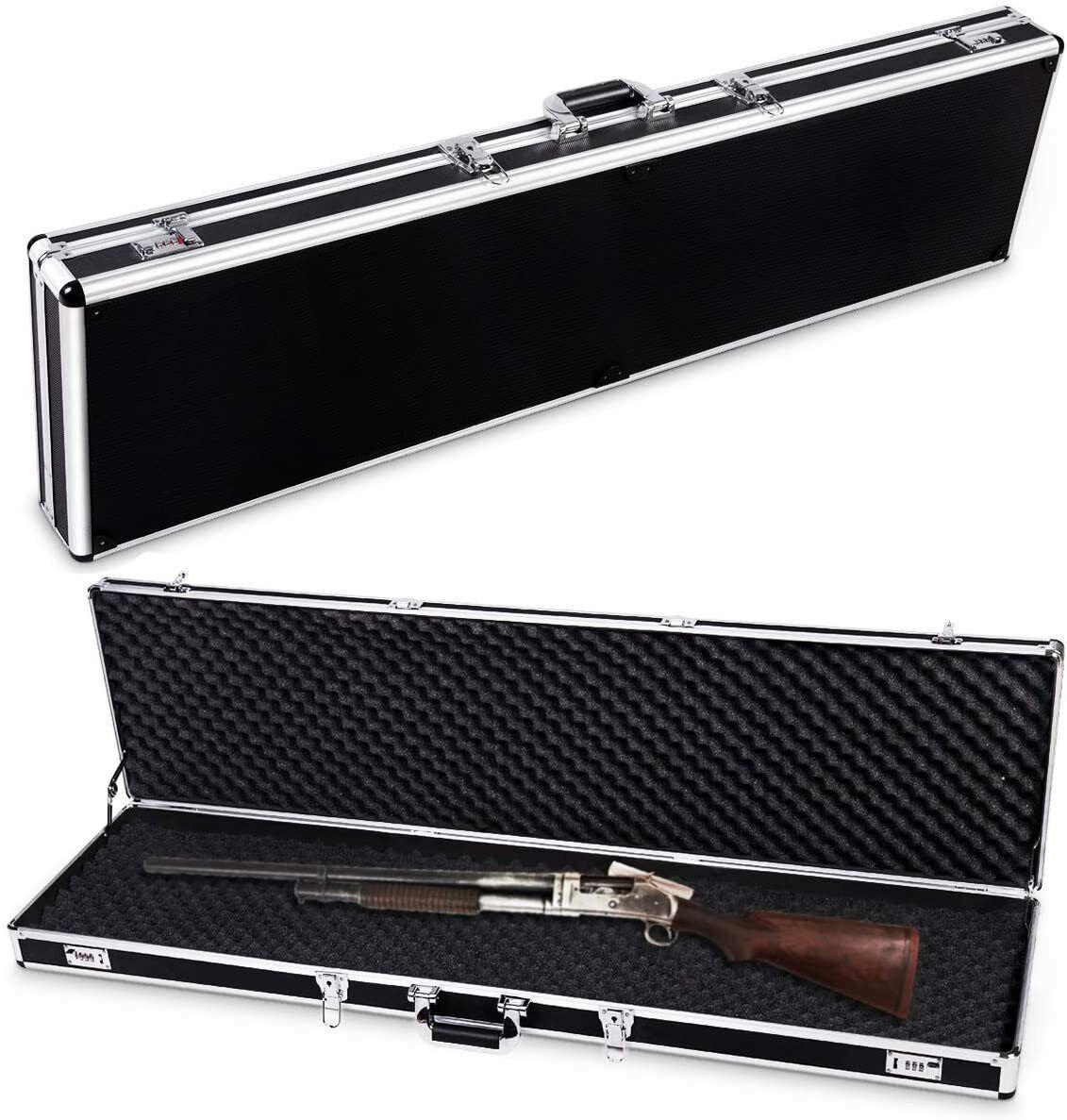 Aluminium Waffenkoffer Gewehrkoffer Pistolenkoffer mit Schaumstoffeinlage
