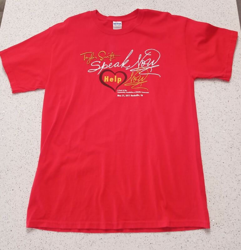 Taylor Swift Speak Now Help Now Large T-shirt 2011 Nashville