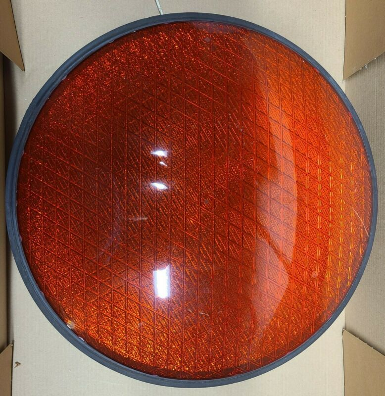 Dialight 433-1210-003 Red LED Traffic Signal Light/Lens