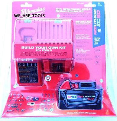 Milwaukee M18 48-59-1850 Starter Kit 48-11-1850 5.0 AH Battery & Charger 18 Volt