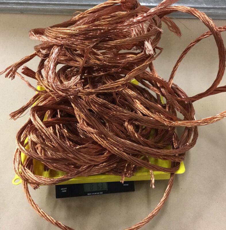 8.39 Lbs Clean Scrap  Bare Bright  Copper Wire For Crafts Jewelry Melt .023 Dia.