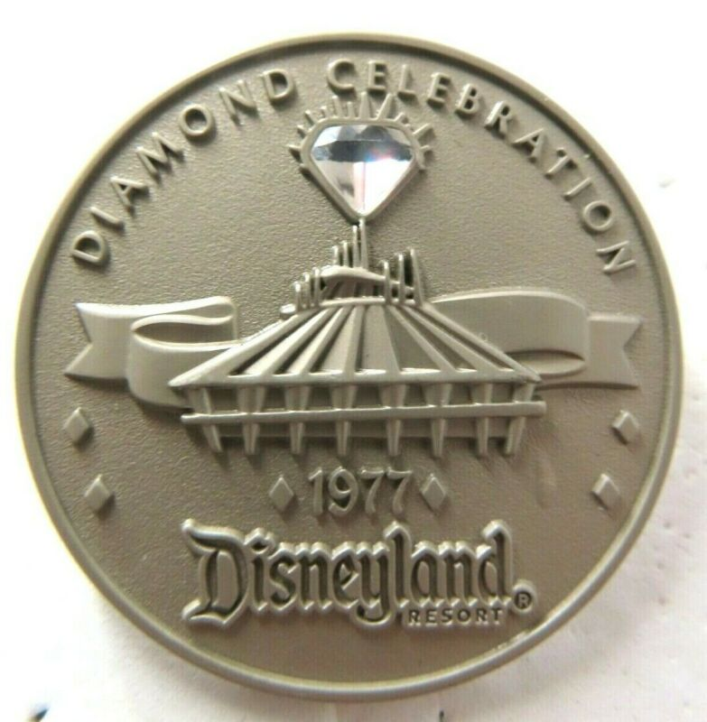 Disney Pin DLR Diamond Celebration 60th Space Mountain Coin LE 1000 #111828