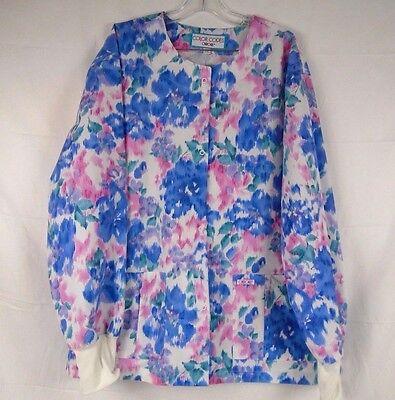 Cherokee Color Splotch Long Sleeve Lab Coat/Scrub Top Size 3XL UD301V8 543K ()