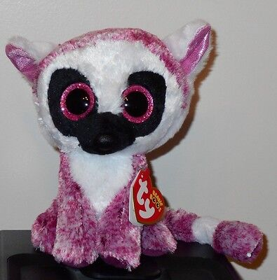 "Ty Beanie Boos ~ LEEANN the 6"" Lemur ~ Stuffed Plush Toy (BRAND NEW) 2017 Design"