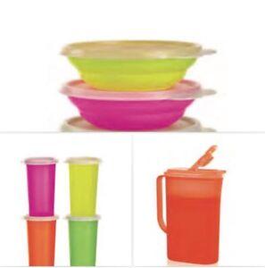 Tupperware 9-Pc Neon Breakfast Set BRAND NEW