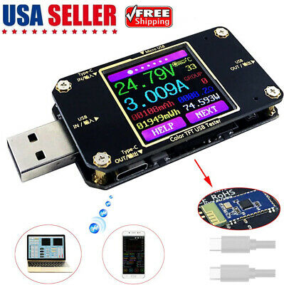 Usb Multimeter Voltage Current Tester With Bluetooth Type-c Pd Ammeter Detector