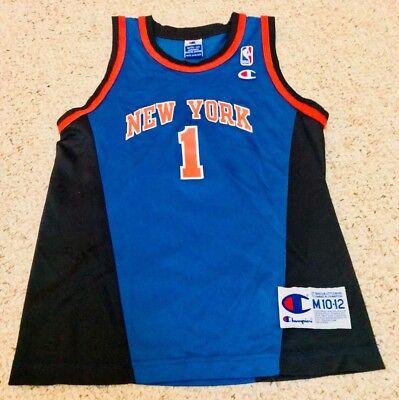 Authentic Nba Basketball Jersey - Boys Authentic New York Knicks Jersey NBA Basketball Throwback Vintage Medium 12