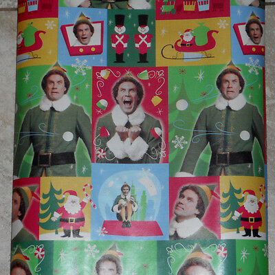 AMERICAN GREETINGS ELF MOVIE WILL FERRELL CHRISTMAS Wrapping PAPER 20 SQ FT ROLL
