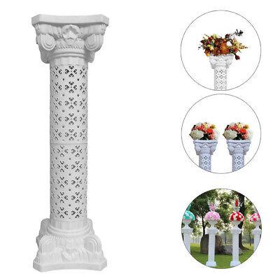 Plastic Roman Columns (Wedding Decorative Plastic Roman Column Height Adjustable & Flower Plate Decor)