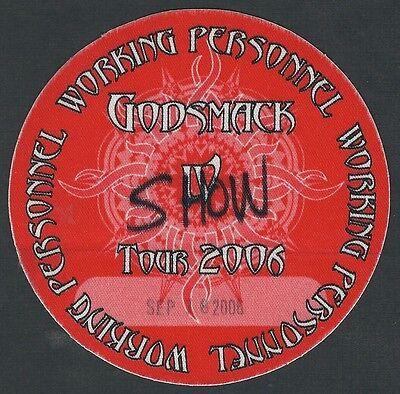 2006 Godsmack Concert Crew Access UNUSED Authentic Satin Tour Pass