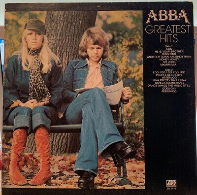 ABBA Greatest Hits Atlantic Vinyl 33 LP Pop Music Record Album VG+ Stereo 1976